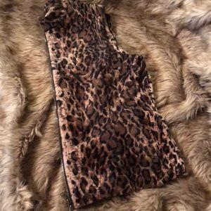 Vintage Ronnie Salloway Vest in Leopard